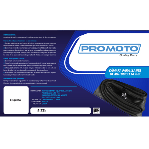 CAMARA PROMOTO 2.75/3.00 -18