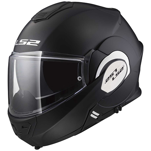 CASCO ABATIBLE LS2 VALIANT 180 DEGREES SOLID M NGO/MATE FF399