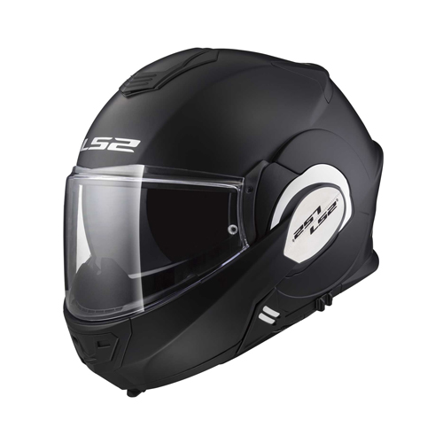 CASCO ABATIBLE LS2 VALIANT 180 DEGREES SOLID L NGO/MATE FF399