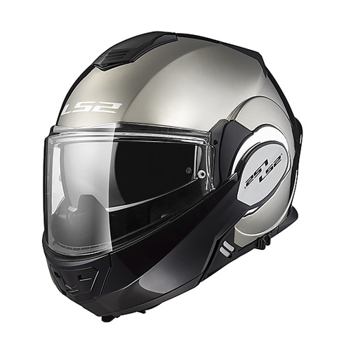 CASCO ABATIBLE LS2 VALIANT 180 DEGREES SOLID L CROMO FF399