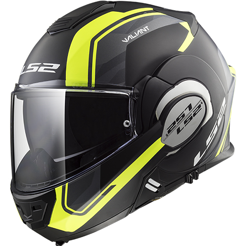 CASCO ABATIBLE LS2 VALIANT 180 DEGREES LINE L NGO/MATE/AMA FF399
