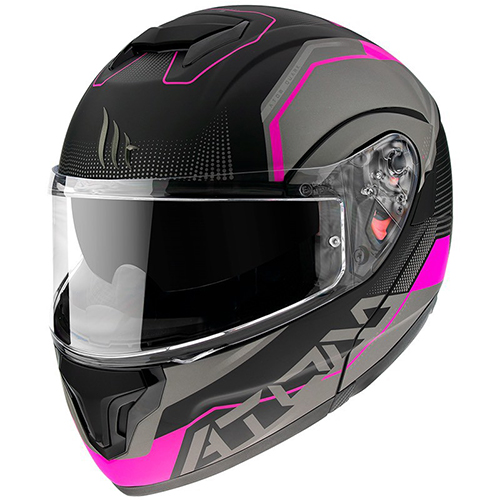 CASCO ABATIBLE MT ATOM QUARK A8 S ROSA MATE