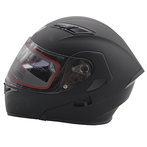 CASCO ABATIBLE R7 RACING UNSCARRED DOBLE MICA DOT M NEGRO MATE
