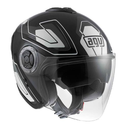 CASCO ABIERTO AGV CITY FIBERLIGHT FUTURE XL NGO/GRS/BCO