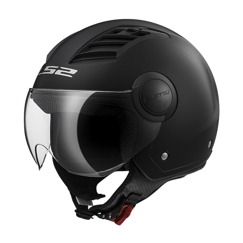 CASCO ABIERTO LS2 AIRFLOW SOLID XL NGO/MATE OF562