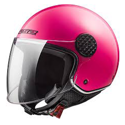 CASCO ABIERTO LS2 SPHERE LUX SOLID S ROSA FLUO OF558