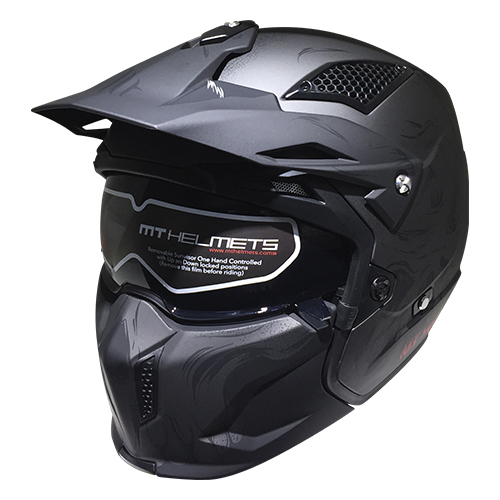 CASCO ABIERTO MT STREETFIGHTER SV DARKNESS A2 M GRIS MATE