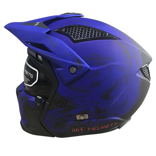 CASCO ABIERTO MT STREETFIGHTER SV DARKNESS A7 M AZUL MATE