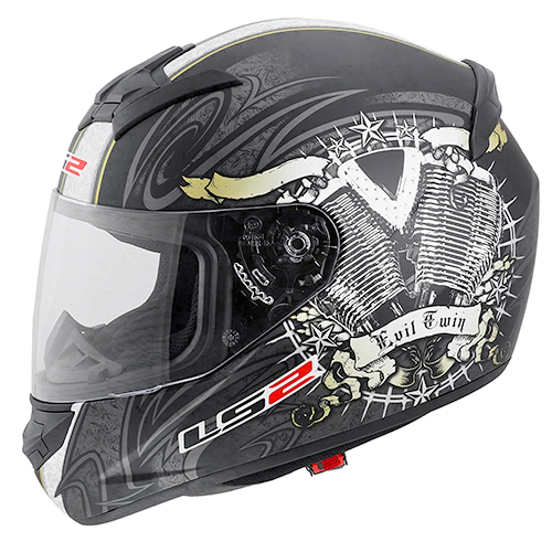 CASCO CERRADO LS2 ROOKIE ENGINE HEART XL NGO/MATE FF352