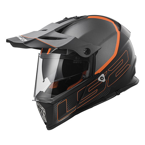CASCO CROSS CITY LS2 PIONEER TRIGGER L NGO/MATE/TITANIUM MX436