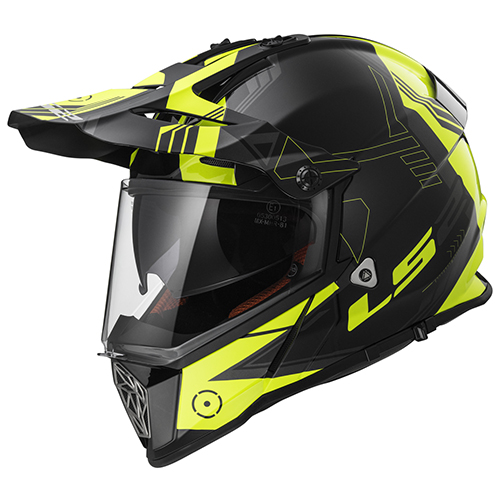 CASCO CROSS CITY LS2 PIONEER 2017 TRIGGER M NGO/AMA FLUO MX436