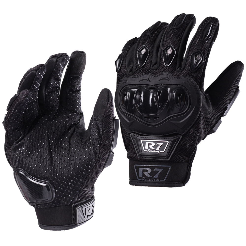 GUANTES VEL R7 RACING M NEGRO R7-1 TOUCH/LIMPIADOR MICA
