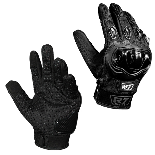 GUANTES VEL R7 RACING L NEGRO R7-2 TOUCH