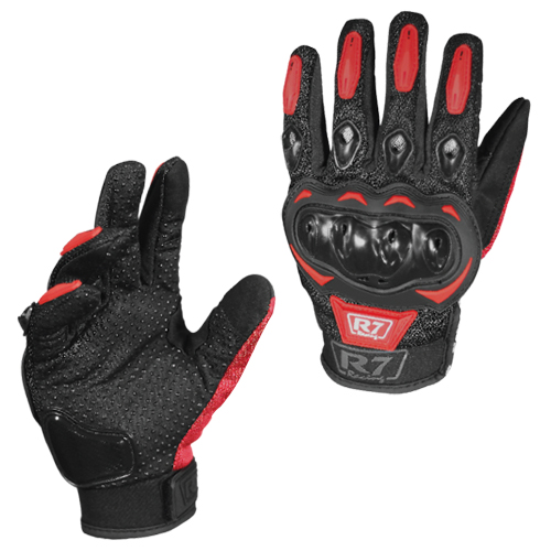 GUANTES VEL R7 RACING M ROJO R7-2 TOUCH