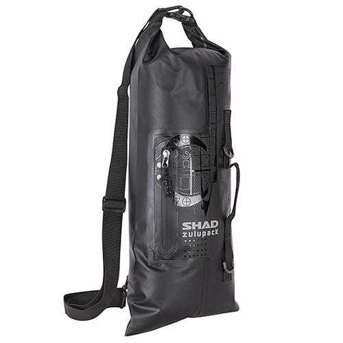 MALETA PERSONAL SHAD SW40 ZULUPACK 20 LTS NEGRO CONTRA AGUA