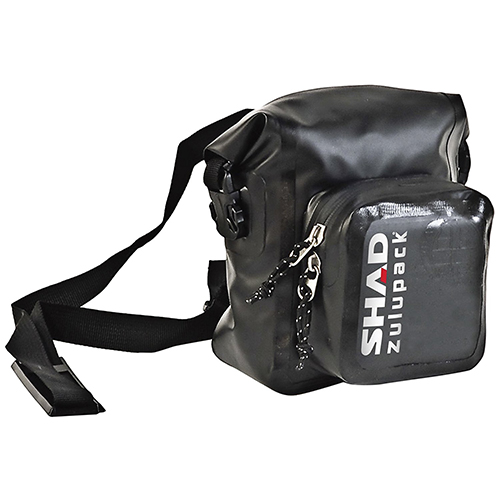 MALETA PERSONAL SHAD SW05 ZULUPACK 5 LTS NEGRO CONTRA AGUA