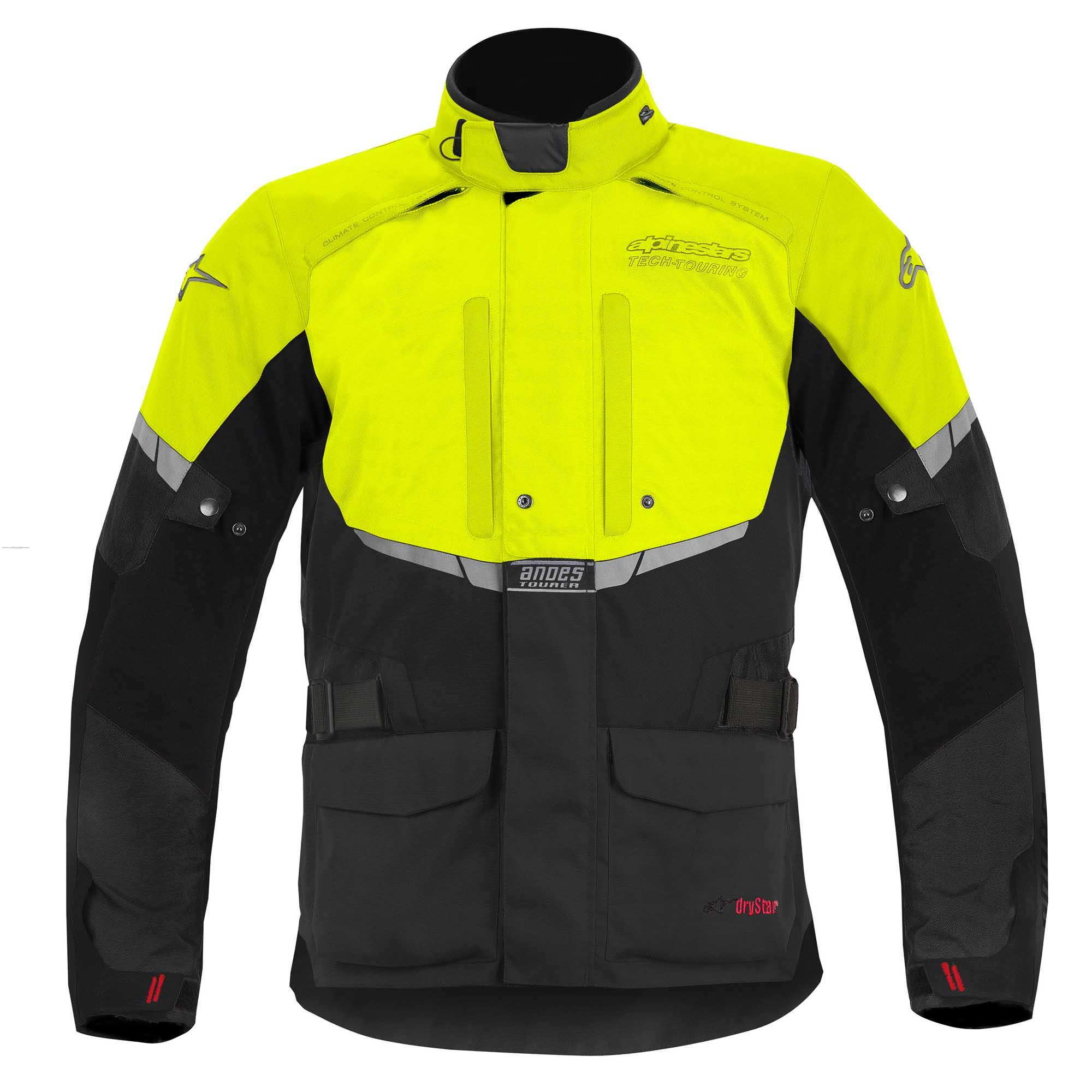 CHAMARRA TEXTIL DRYSTAR ANDES NGO/AMA FLUO L